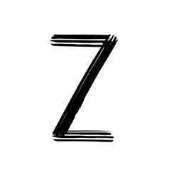capital letter z painted by brush vector image