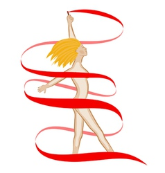 naked girl blonde vector image vector image