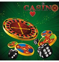 Roulette casino green vector