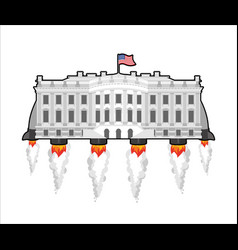 Whitehouse future with rocket turbo vector image vector image