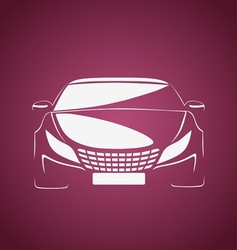 Auto in pink vector image vector image