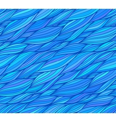 Blue doodle hair seamless pattern vector image vector image