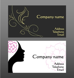 Business card for hairdressers vector image vector image