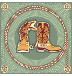 cowboy boots vector image