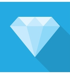 diamond in a flat style vector image