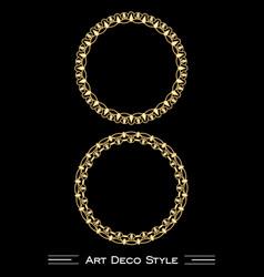 elegant antiquarian golden circle frames in art vector image