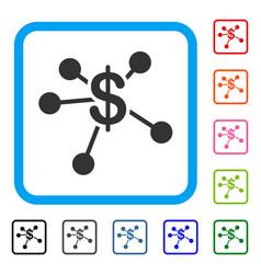 money emission framed icon vector image vector image