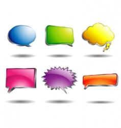 shining speech bubble vector image vector image
