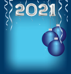 2021 merry christmas card vector image