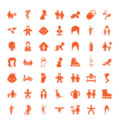 49 young icons vector image