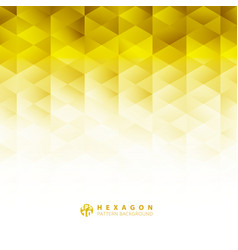 Abstract geometric hexagon pattern yellow vector