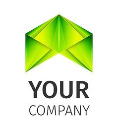 abstract logo fox vector image