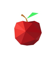 abstract origami red apple vector image