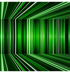 Abstract warped green stripes colorful background vector