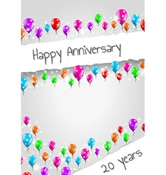 Anniversary poster 20 years vector