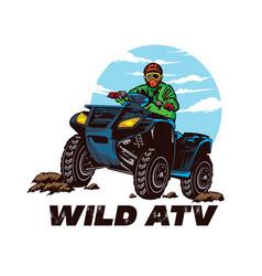 Atv logo buggy racing sport vector