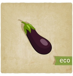 Aubergine eco background vector