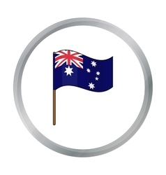 Australian flag icon in cartoon style isolated on vector