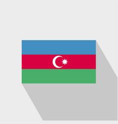 azerbaijan flag long shadow design vector image