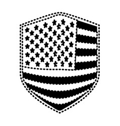 Badge of flag united states of america black vector