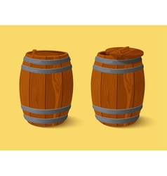 Barrel Wooden casks vector image vector image