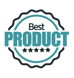 best product mark quality badge isolated icon vector image