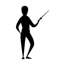 Black silhouette man in casual clothing stay vector
