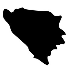 bosnia and herzegovina - solid black silhouette vector image