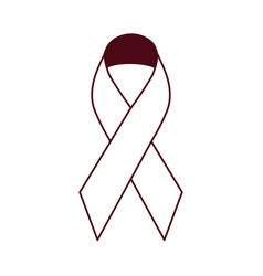 Breast cancer awareness month ribbon cartoon vector