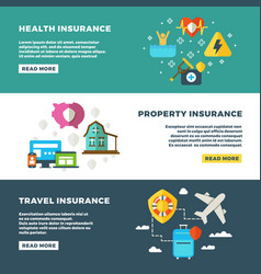 business insurance banking services and safety vector image