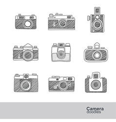 camera doodles vector image
