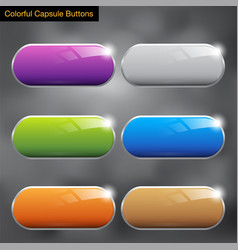 Capsule buttons colorful vector