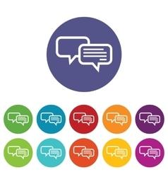 Chatting icon set vector