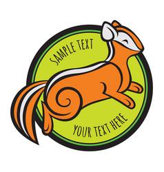 Chipmunk logo template vector