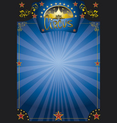 Circus blue night poster vector