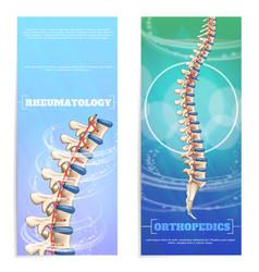 Clinic rheumatology and orthopedics set banner vector