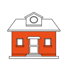 color silhouette cartoon orange facade comfortable vector image