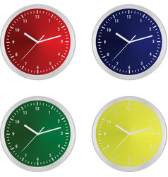 Colorful clocks vector