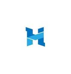 Creative letter h logo design template vector