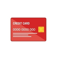 Credit card business icon vector