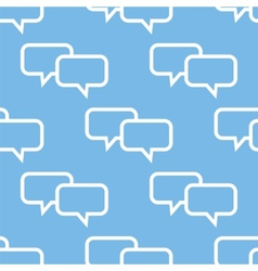 Dialog seamless pattern vector image