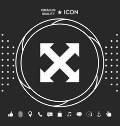 Extend resize enlarge icon graphic elements vector