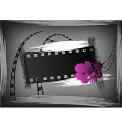 film grunge banner vector image
