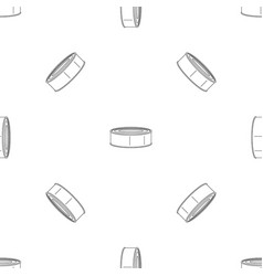 fish tomato tin can pattern seamless vector image