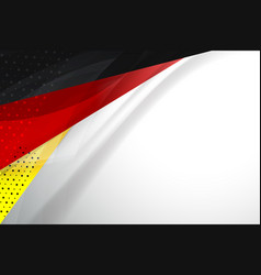 Flag germany background vector