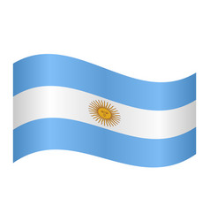 flag of argentina waving on white background vector image