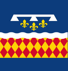 Flag of charente in nouvelle-aquitaine is the vector