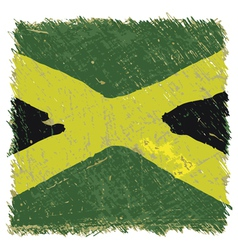 Flag of Jamaica handmade square shape vector image