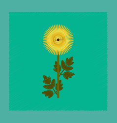 Flat shading style flower vector