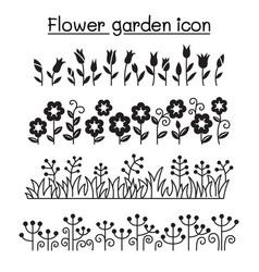 flower garden decorative graphic design vector image